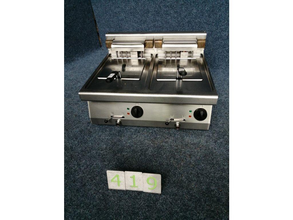 Elektrická dvojitá fritéza, 2koš 210x230x100mm