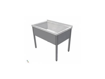 Nerezový dřez svařovaný 700x700x900 (nerez pro potravinářské účely) - mycí stůl