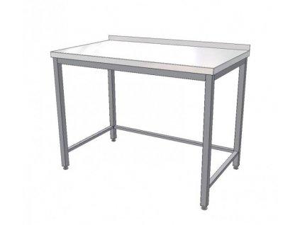 Nerezový pracovní stůl s trnoží 1200x700x850 (nerez pro potravinářské účely)