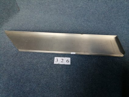 Nerezová police nástěnná s pokosem,rozměr 2000/1600x400