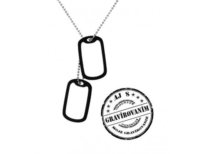 vojenske znamky s ciernym ramom mojegravirovanie gravirovanie