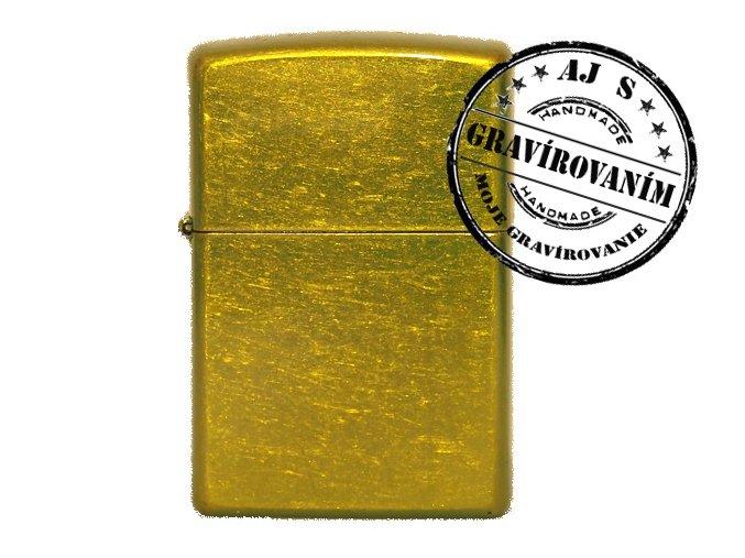 Zapaľovač ZIPPO bez/s gravírovaním army gold