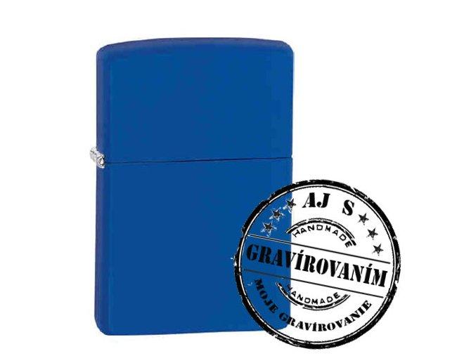 Zapaľovač ZIPPO bez/s gravírovaním modrý matný