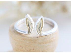 5 strieborný prsteň zajačie ušká mojegravirovanie