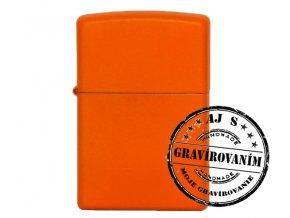Zapaľovač ZIPPO bez/s gravírovaním oranžový matný