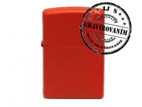 Zapaľovač ZIPPO bez/s gravírovaním červený matný