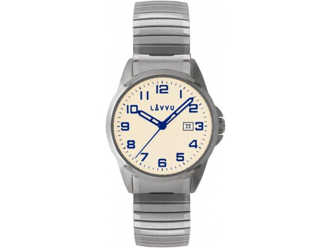 Pánské pružné hodinky LAVVU STOCKHOLM Big Beige