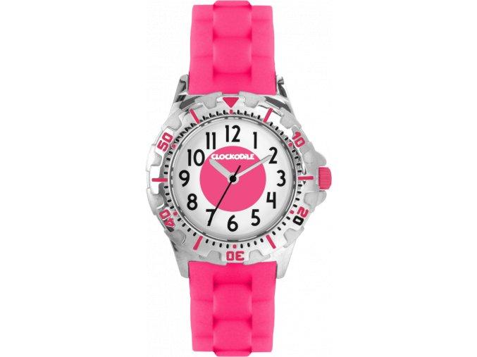 Svítící růžové sportovní dívčí dětské hodinky CLOCKODILE SPORT 3.0