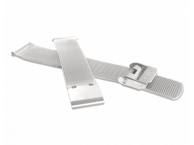 Stříbrný kovový tah MINET MESH Band Original Silver - 14