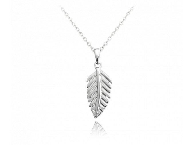 Stříbrný náhrdelník MINET PEŘÍČKO