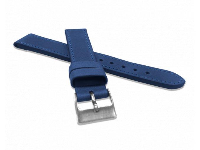 Modrý prošitý řemínek LAVVU SPORT z luxusní kůže Top Grain - 18