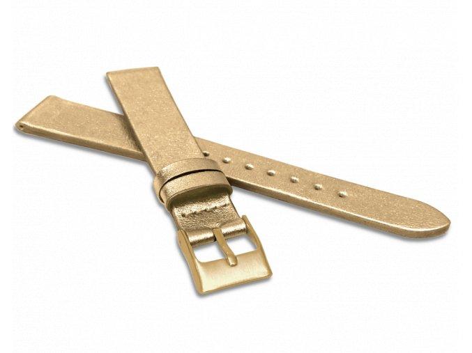 Zlatý řemínek MINET z luxusní kůže Top Grain - 14