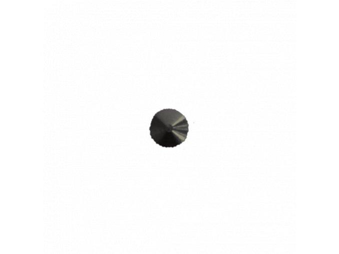 Uzavřená černá matička minutové ručky