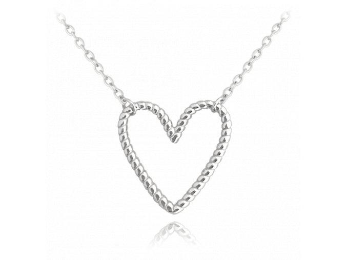 Stříbrný náhrdelník MINET SRDCE