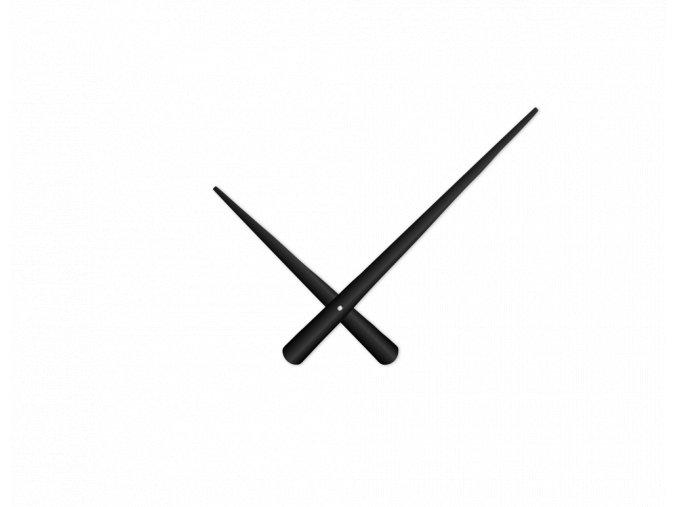 Černé zúžené hliníkové ručičky na hodiny 215 mm | 130 mm