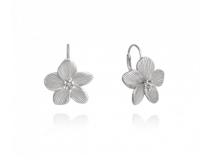 Rozkvetlé stříbrné náušnice MINET FLOWERS