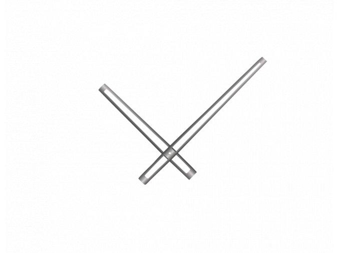 Stříbrné vyseknuté hliníkové ručičky na hodiny 168 mm   118 mm