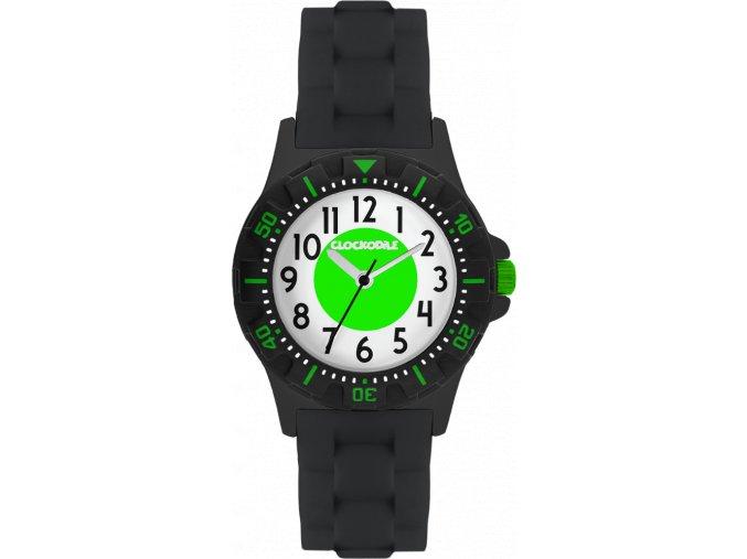 Svítící černo-zelené sportovní dětské chlapecké hodinky CLOCKODILE SPORT 3.0