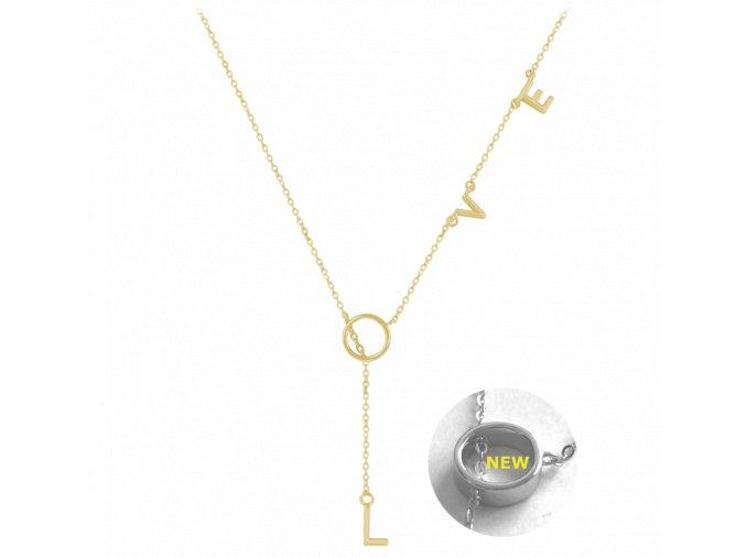Pozlacený stříbrný náhrdelník MINET LOVE