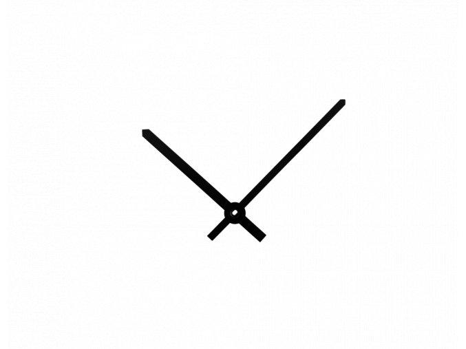 Černé rovné hliníkové ručičky na hodiny 110 mm | 85 mm