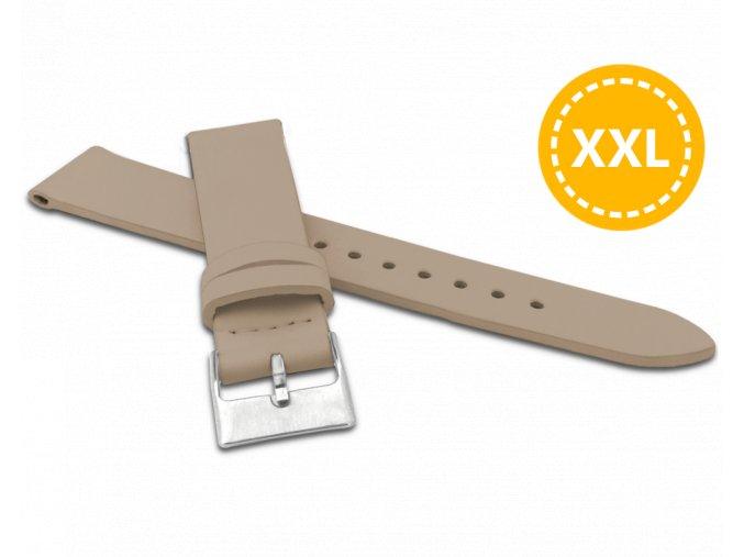 XXL Prodloužený béžový řemínek MINET z luxusní kůže Top Grain - 18 - XXL