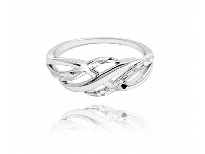Broušený stříbrný prsten MINET vel. 66