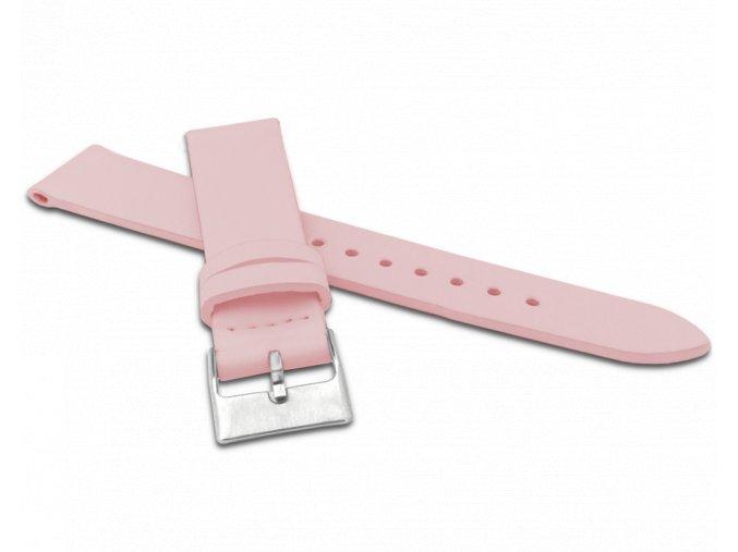 Růžový řemínek MINET z luxusní kůže Top Grain - 22