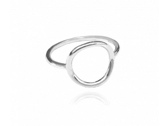 Stříbrný prsten s kroužkem MINET vel. 52