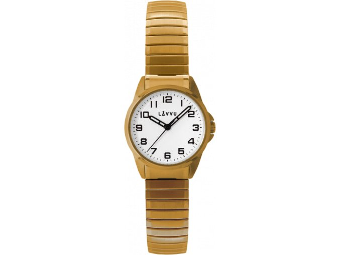 Dámské pružné hodinky LAVVU STOCKHOLM Small Gold