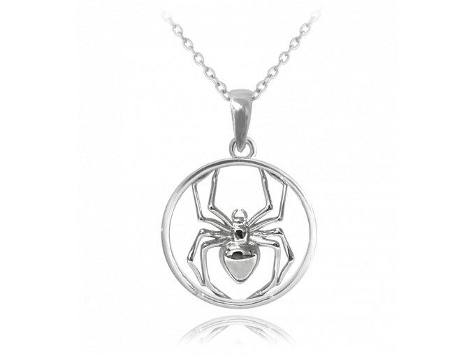 Stříbrný náhrdelník MINET PAVOUK