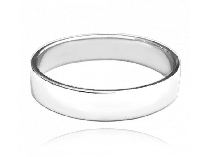 Stříbrný snubní prsten MINET vel. 74