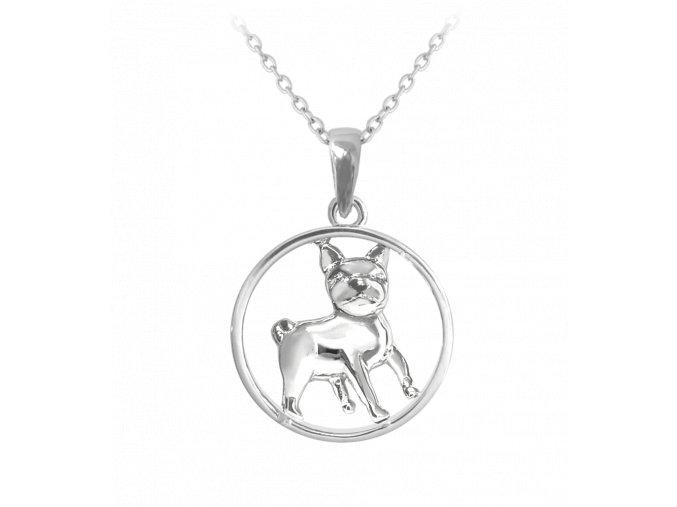 Stříbrný náhrdelník MINET MOPS