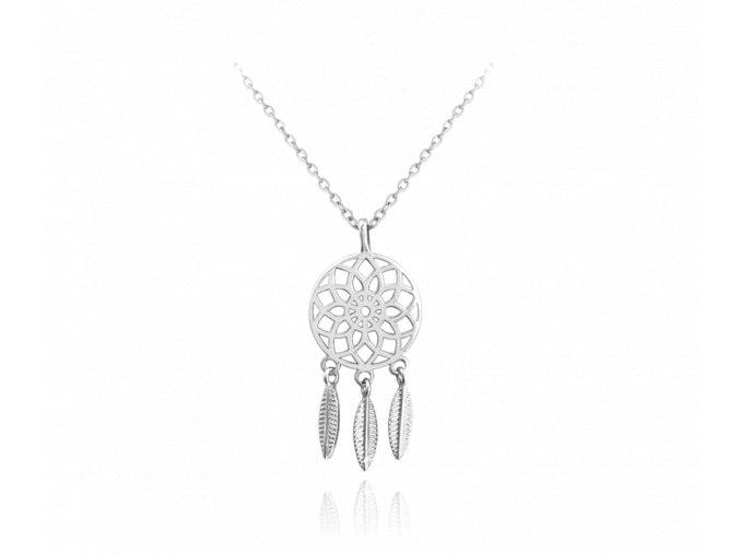 Stříbrný náhrdelník MINET LAPAČ SNŮ