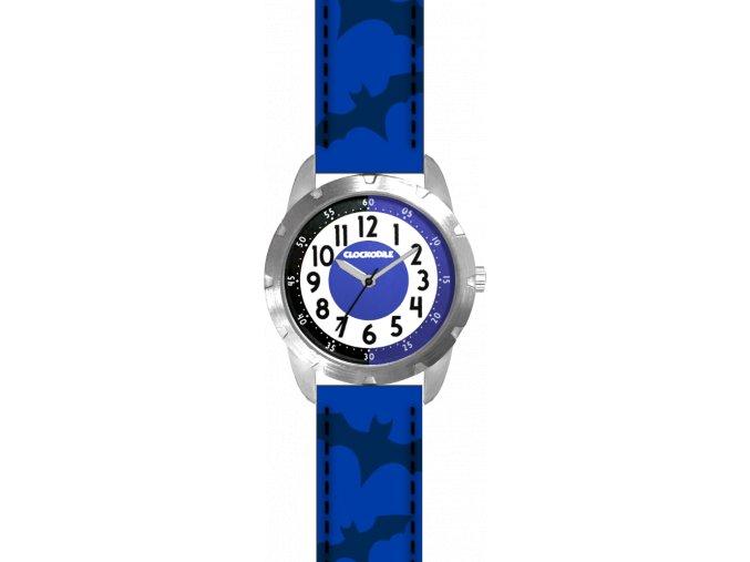Svítící modré chlapecké dětské hodinky CLOCKODILE SUPERHERO