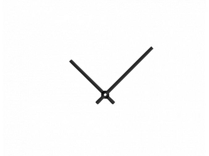 Černé rovné hliníkové ručičky na hodiny 90 mm   65 mm
