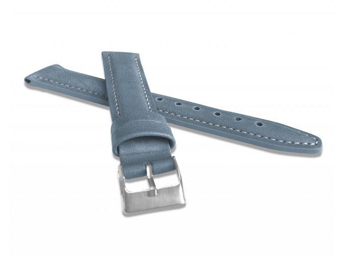 Polstrovaný modrý prošitý řemínek LAVVU CLASSIC z luxusní kůže Top Grain - 18