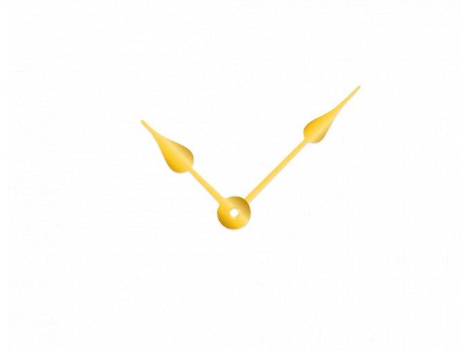 Zlaté klasické hliníkové ručičky na hodiny 73 mm | 53 mm
