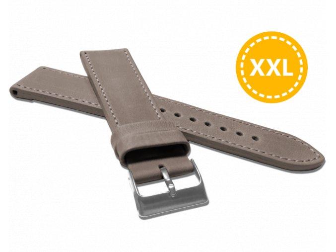 XXL Prodloužený prošitý béžový řemínek LAVVU SPORT z luxusní kůže Top Grain - 24 XXL