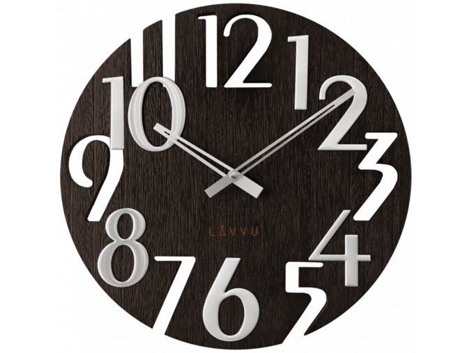 Černé dřevěné hodiny LAVVU STYLE Black Wood