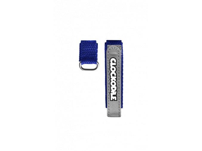 Reflexní modrý řemínek na suchý zip k dětským hodinkám CLOCKODILE