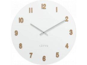 Velké bílé dřevěné hodiny LAVVU WHITE