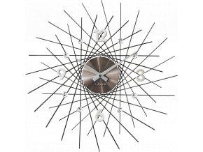 Černé antracitové hodiny se stříbrnými detaily LAVVU CRYSTAL Lines