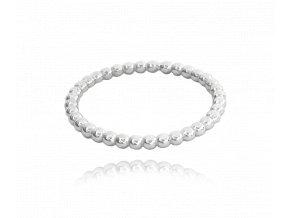 Kuličkový stříbrný prsten MINET vel. 54