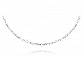 Stříbrný náhrdelník MINET LOVE se srdíčky