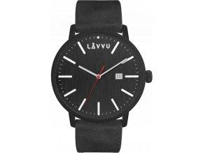 Černé pánské hodinky LAVVU COPENHAGEN RAVEN BLACK