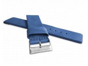 Sytě modrý hladký řemínek LAVVU PLAIN z luxusní kůže Top Grain - 22