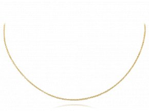 Pozlacený stříbrný řetízek očka 45 cm