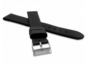 Černý prošitý řemínek LAVVU SPORT z luxusní kůže Top Grain - 20