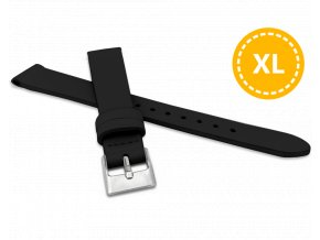 XL Prodloužený černý řemínek MINET z luxusní kůže Top Grain - 14 - XL