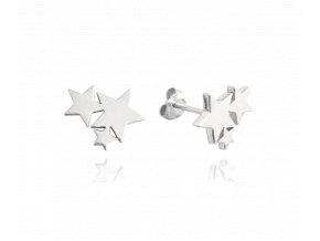 Stříbrné náušnice MINET HVĚZDIČKY